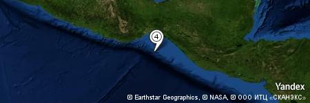 Yandex Map of 70.499 miles of Golfo de Tehuantepec