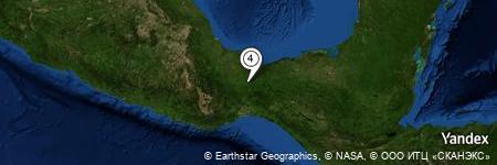 Yandex Map of 1.622 miles of El Zapotal