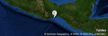 Yandex Map of 9.092 miles of Punta El Chivo
