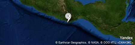 Yandex Map of 3.196 miles of De la Rosa