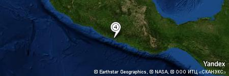 Yandex Map of 1.074 miles of Tecomapa
