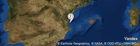 Yandex Map of 6.516 miles of Golfo de Valencia