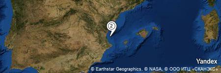 Yandex Map of 8.759 miles of Golfo de Valencia