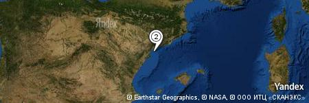 Yandex Map of 9.588 miles of Cabo de Salou