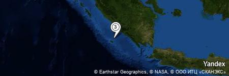 Yandex Map of 21.872 miles of Tanjung Kaana
