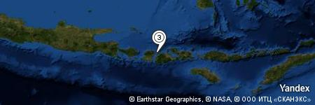 Yandex Map of 3.737 miles of Selat Pajawa
