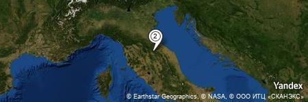 Yandex Map of 0.427 miles of Spa Resort Frescina
