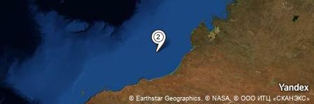 Yandex Map of 85.135 miles of Clarke Reef