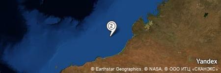 Yandex Map of 83.854 miles of Clarke Reef