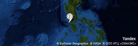 Yandex Map of 0.569 miles of Lumotan Bay