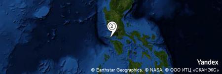 Yandex Map of 8.696 miles of Calatagan Point