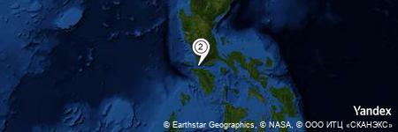 Yandex Map of 4.516 miles of Macajuayan Island
