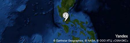 Yandex Map of 0.185 miles of San Teodoro