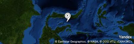 Yandex Map of 17.735 miles of Pulau Sendiri