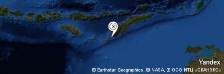 Yandex Map of 4.218 miles of Tanjung Nainoni