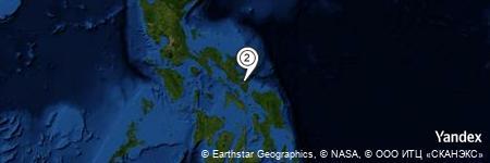 Yandex Map of 0.596 miles of Buhatan River