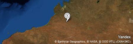 Yandex Map of 7.408 miles of Dillawuddi Rockhole