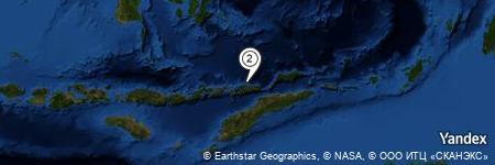 Yandex Map of 6.621 miles of Pulau Sika
