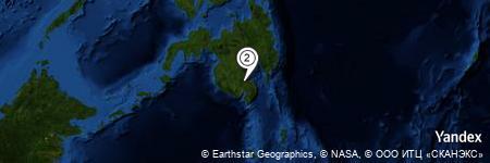Yandex Map of 3.357 miles of Biangan Creek