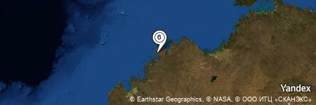 Yandex Map of 7.750 miles of Purrungku Island