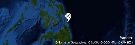 Yandex Map of 1.604 miles of Siargao Islands