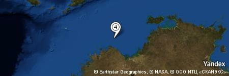 Yandex Map of 50.937 miles of Stewart Islands