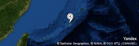 Yandex Map of 4.252 miles of Zanpa Misaki
