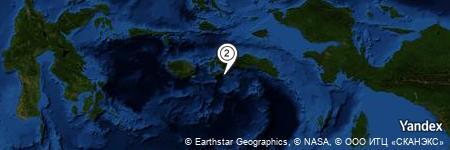 Yandex Map of 7.029 miles of Tanjung Hatuasu