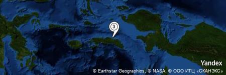 Yandex Map of 5.575 miles of Tanjung Kobi