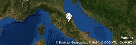 Yandex Map of 0.953 miles of Monte Fema
