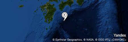 Yandex Map of 73.573 miles of Nagae-gawa