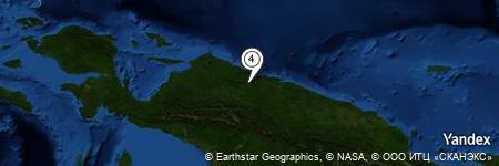 Yandex Map of 2.766 miles of Sungai Wirubeteknala
