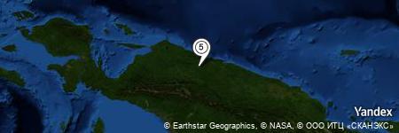 Yandex Map of 7.988 miles of Sungai Wirubeteknala