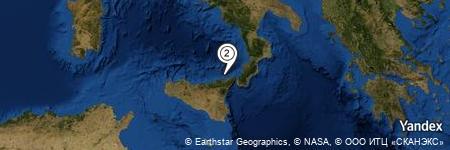 Yandex Map of 5.532 miles of Capo di Milazzo