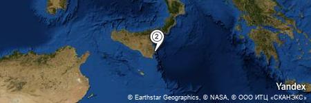 Yandex Map of 0.542 miles of La Rosa Sul Mare Hotel