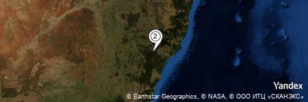 Yandex Map of 0.838 miles of Doyles Creek