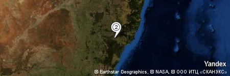 Yandex Map of 1.470 miles of Mount Arthur