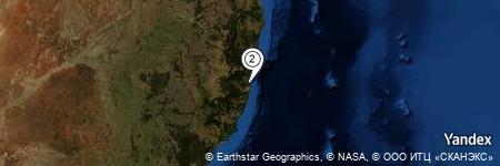 Yandex Map of 1.853 miles of Macleay River