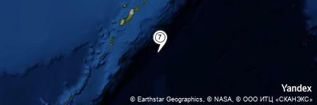 Yandex Map of 78.251 miles of Oyashio