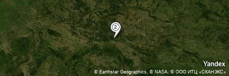 Yandex Map of 1.772 miles of Szklary