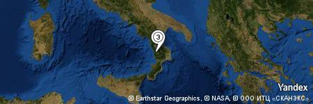 Yandex Map of 0.053 miles of Cosenza