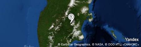 Yandex Map of 5.294 miles of Gora Ostryy Tolbachik
