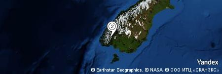 Yandex Map of 0.978 miles of North Borland Hut