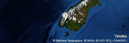 Yandex Map of 1.108 miles of Mount Titiroa