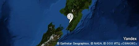 Yandex Map of 1.132 miles of Lake Waitaha