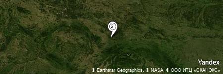 Yandex Map of 1.282 miles of Wilcza