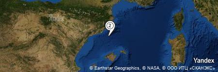 Yandex Map of 29.987 miles of Aqua Hotel Montagut suites