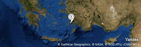 Yandex Map of 0.523 miles of Parilti Otel