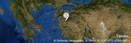 Yandex Map of 0.703 miles of Karabörklü