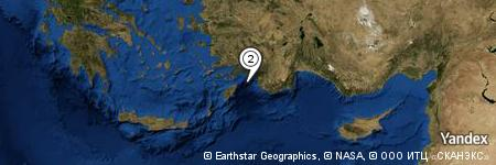 Yandex Map of 8.272 miles of Peksimet Adası